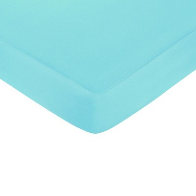 Sweet Jojo Designs Fitted Crib Sheet - Hooty - Turquoise