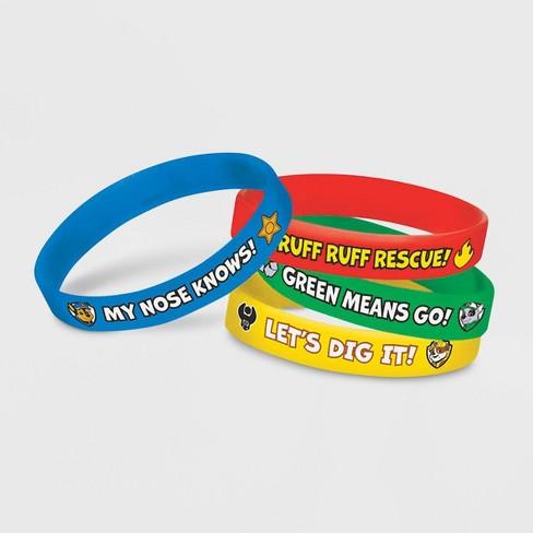 PAW Patrol 4pk Rubber Bracelet Party Favors - image 1 of 1