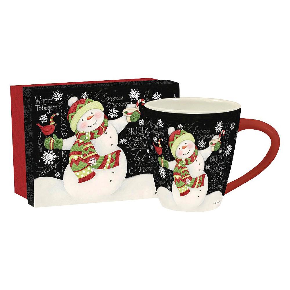 Image of Lang Ceramic Let It Snow Café Mug 17 oz, Multi-Colored