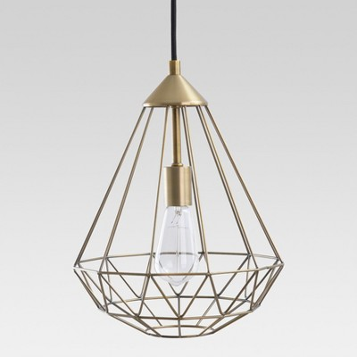 Entenza Faceted Geometric Pendant Ceiling Light Brass - Project 62™