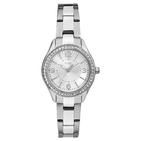 Women's Timex Watch with Crystal Bezel - Silver TW2P79800JT - image 1 of 1