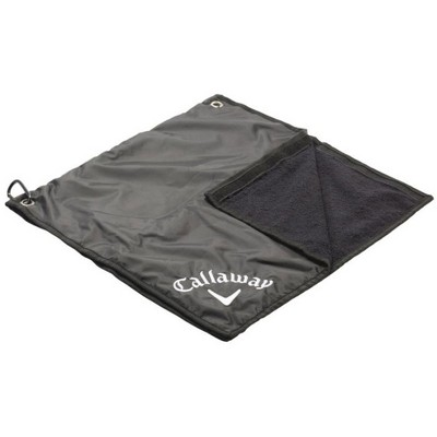 Callaway Rain Hood Towel Combo - Black