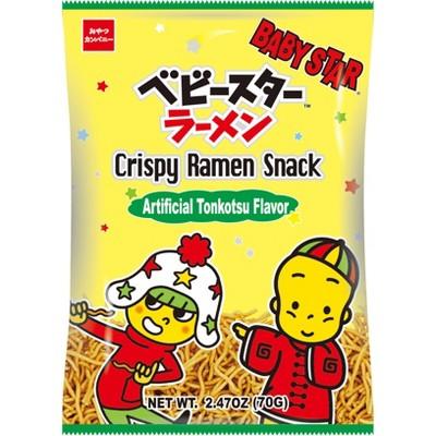 Shirakiku Baby Star Ramen Chips Tonkostu Pork - 2.47oz
