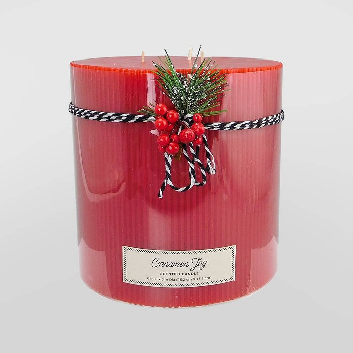 "6"" x 6"" Pillar 3-Wick Candle Cinnamon Joy - Threshold™ - image 1 of 1"
