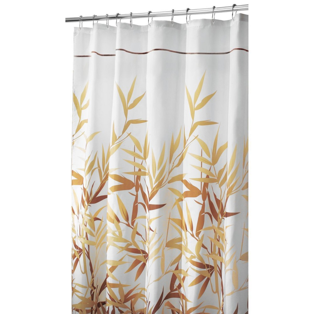 Shower Curtain Interdesign Leaf Brown