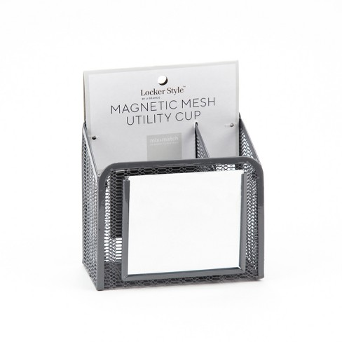 Magnetic Mesh Pencil Cup with Mirror - Locker Style - image 1 of 2