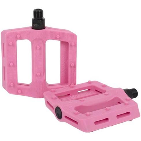 """9//16/"""" Plastic Platform Pink DMR V6 Pedals"""