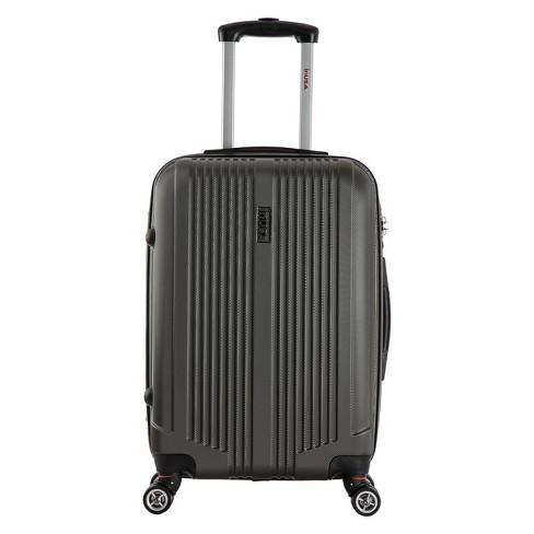 "InUSA San Francisco 22"" Hardside Spinner Suitcase - Charcoal - image 1 of 4"