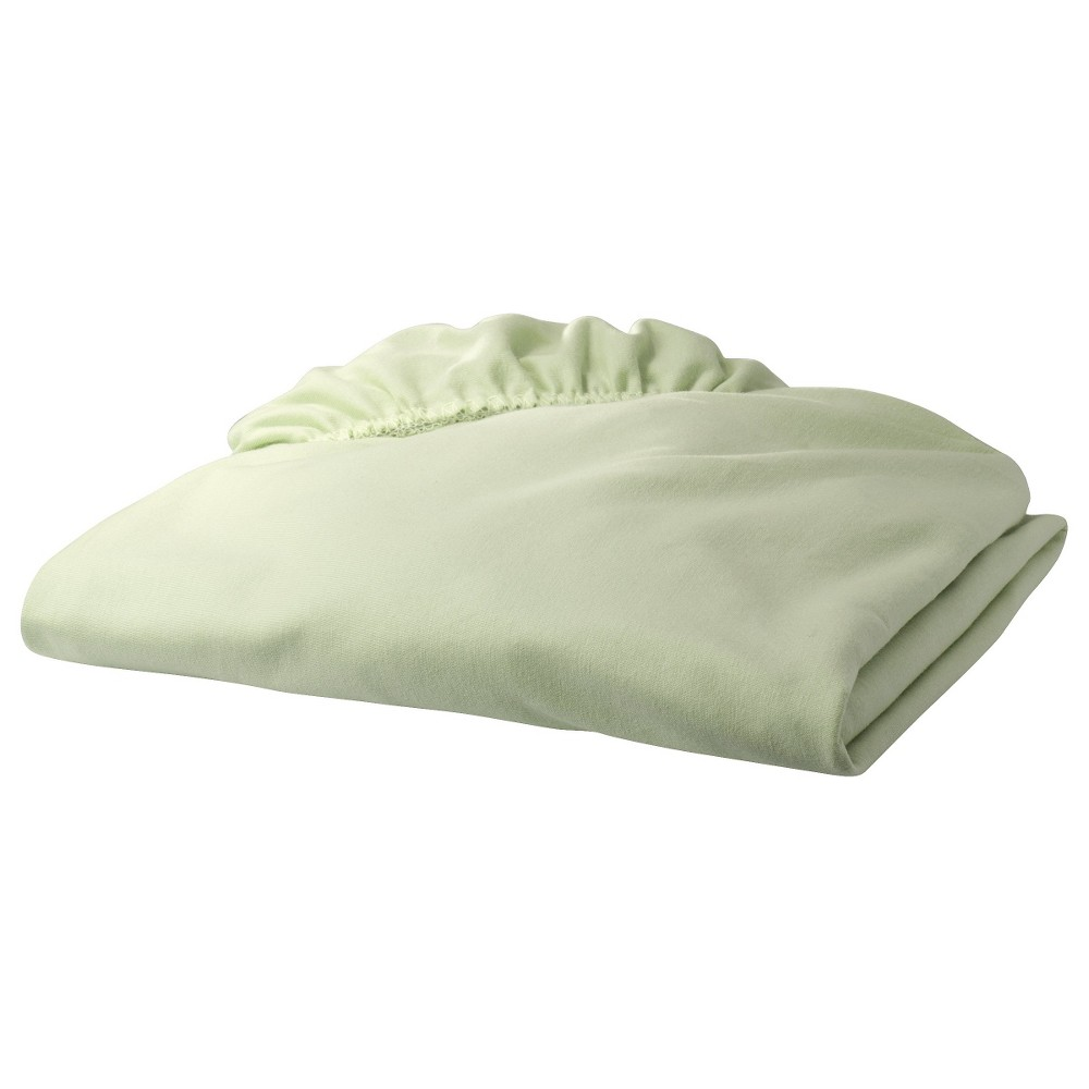 TL Care Jersey Knit Fitted Crib Sheet - Green, Grn