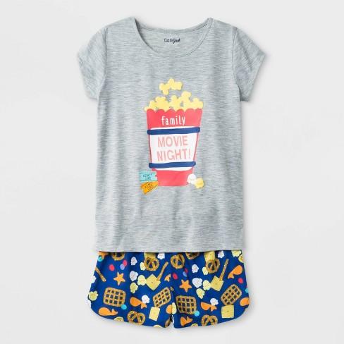 Girls' Pajama Set - Cat & Jack™ Heather Gray - image 1 of 1