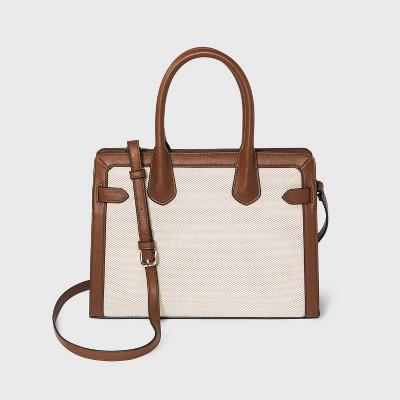 Belted Satchel Handbag - A New Day™