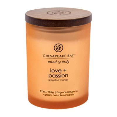 3.7oz Small Jar Candle Love & Passion - Mind And Body By Chesapeake Bay Candle
