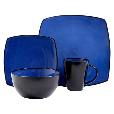 Gibson Tocata Lounge 16pc Dinnerware Set Blue