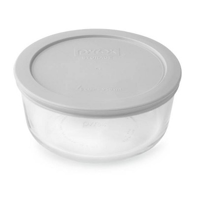 Pyrex 4cup Round Food Storage Container Silver