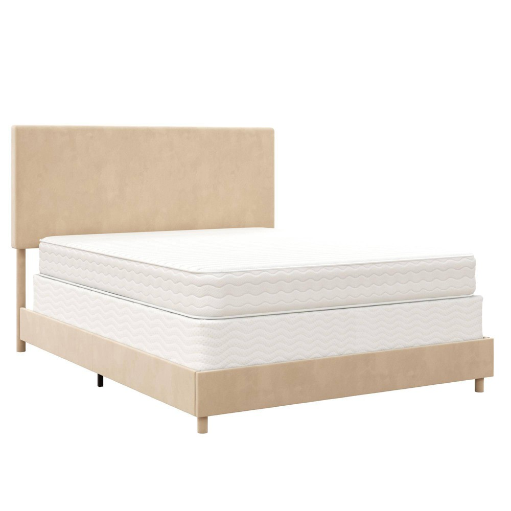Promos Taylor Velvet Upholstered Bed  - Z By Novogratz