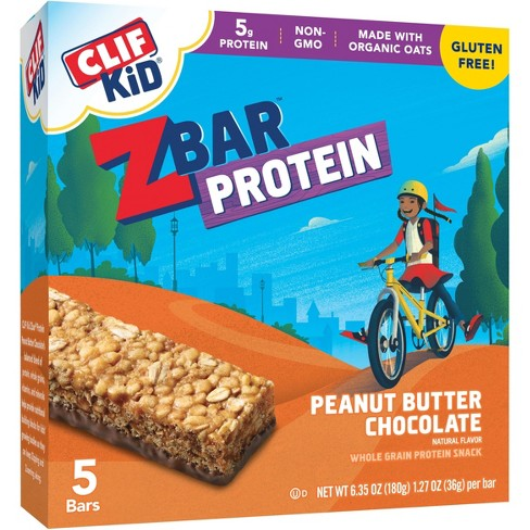 Clif Kid® Peanut Butter Chocolate Protein Bars - 5pk - image 1 of 3