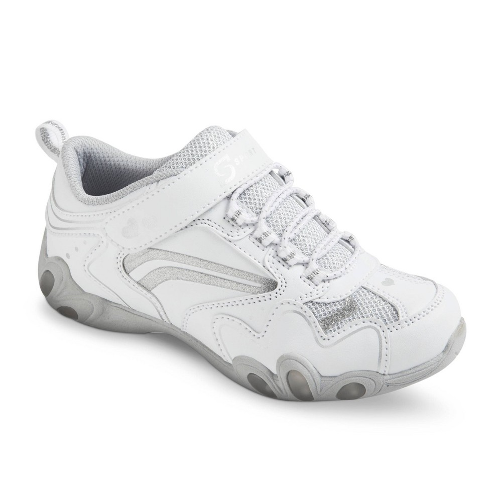 Girl S S Sport Designed By Skechers 8482 Teardrop Sneaker White 2 5