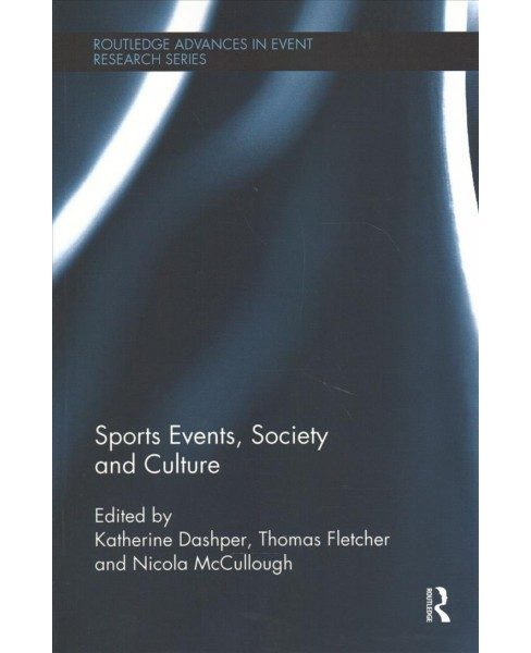 Sports Events, Society and Culture -  Reprint (Paperback) - image 1 of 1