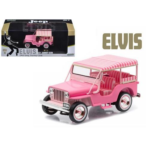 Pink Jeep Wrangler >> 1960 Jeep Surrey Cj3b Pink Jeep Elvis Presley 1935 1977 1 43 Diecast Model Car By Greenlight