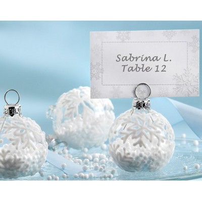12ct Kate Aspen Snow Flurry Ornament Table Place Holder
