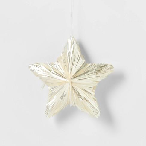 Tinsel Stars Christmas Tree Ornament White - Wondershop™ - image 1 of 3