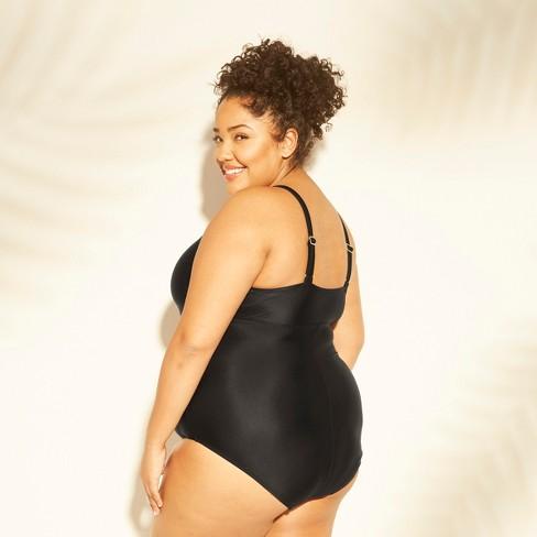 627aa3e73 Women's Plus Size Mesh Cut Out One Piece Swimsuit - Kona Sol™ Black 24W :  Target