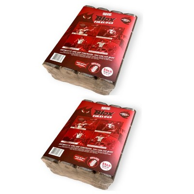 Jealous Devil Blox Hickory & Oak Natural Hardwood Firewood, 12 Logs (2 Pack)