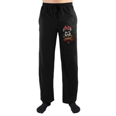 Street Fighter V 5 Logo Print Men's Sleepwear Lounge Pants
