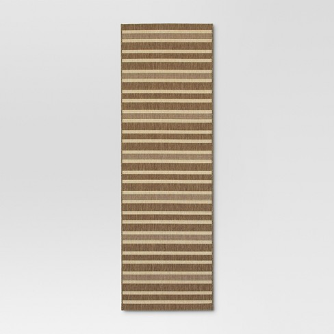Outdoor Rug Striped Brown - Threshold™ - image 1 of 4