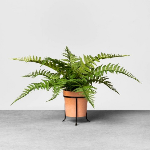Faux Fern Potted Plant with Stand - Hearth & Hand™ with Magnolia - image 1 of 3