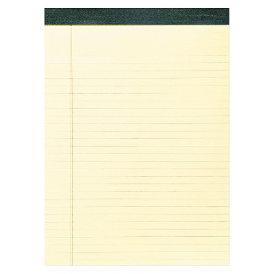 "12pk Recycled Legal Pads 8.5"" x 11"" Yellow- Roaring Spring"