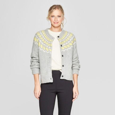 805d37303b7 Women s Long Sleeve Fair Isle Cardigan - Who What Wear™   Target
