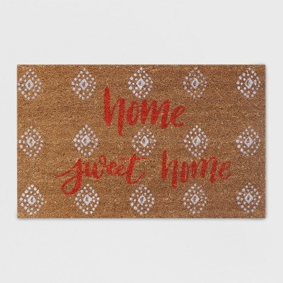 18  x 30  Home Sweet Home Outdoor Doormat Coral - Opalhouse™