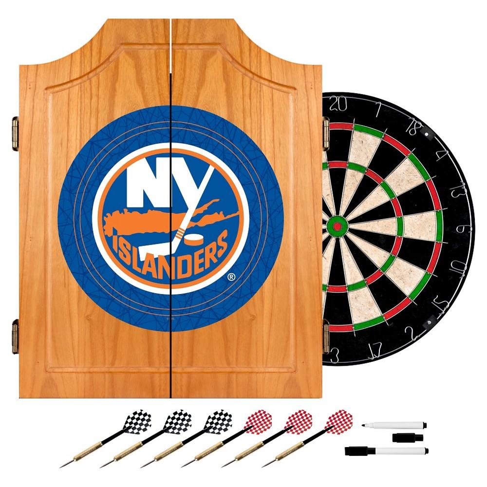 New York Rangers Wood Dart Cabinet Set, New York Islander