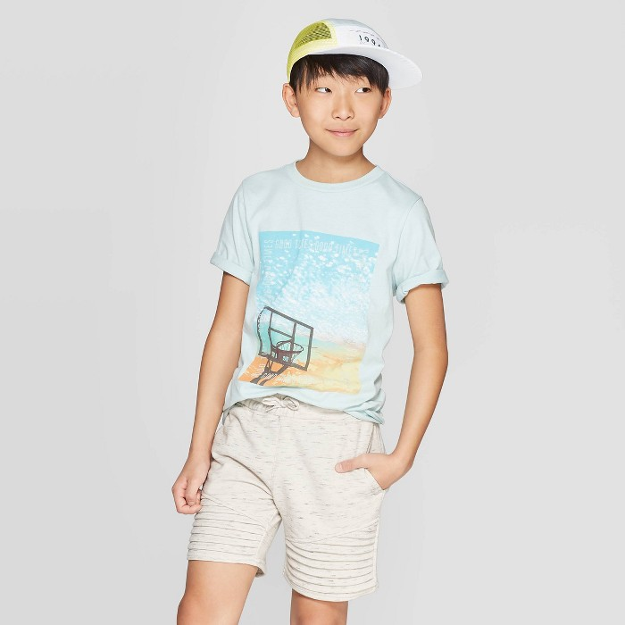 Boys' Short Sleeve Graphic T-Shirt - art class™ Sage - image 1 of 3
