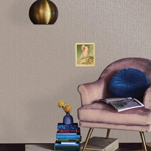 Metallic Gambia Peel & Stick Wallpaper Silver - Opalhouse™ - image 1 of 4