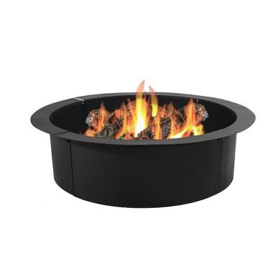"30"" Wood Burning Fire Pit Ring Liner - Round - Sunnydaze Decor"