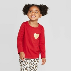 Toddler Girls' Long Sleeve 'Heart' T-Shirt - Cat & Jack™ Red