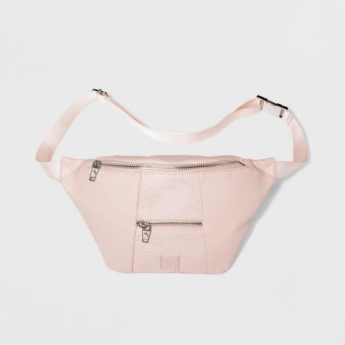 Women's Double Zipper Fanny Pack - JoyLab™ Pink - image 1 of 4