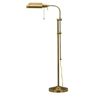 """46"""" x 57"""" Adjustable Height Metal Pharmacy Floor Lamp Antique Brass - Cal Lighting"""