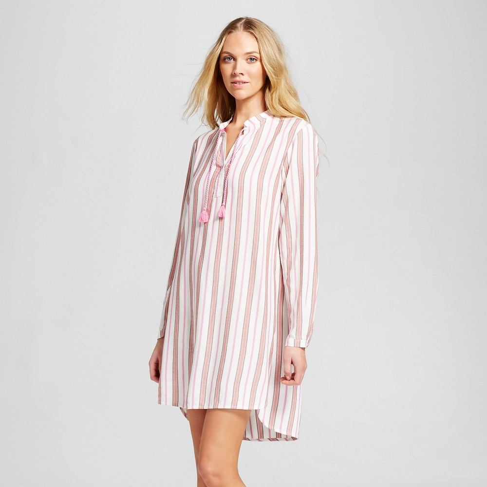 Women's Sleepwear Nightgown Pink Stripe XS