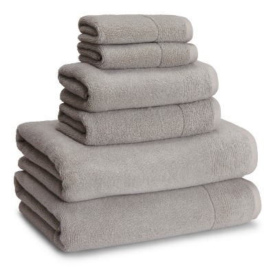Kyoto Towels Dolphin Gray Set of 6 - Kassatex