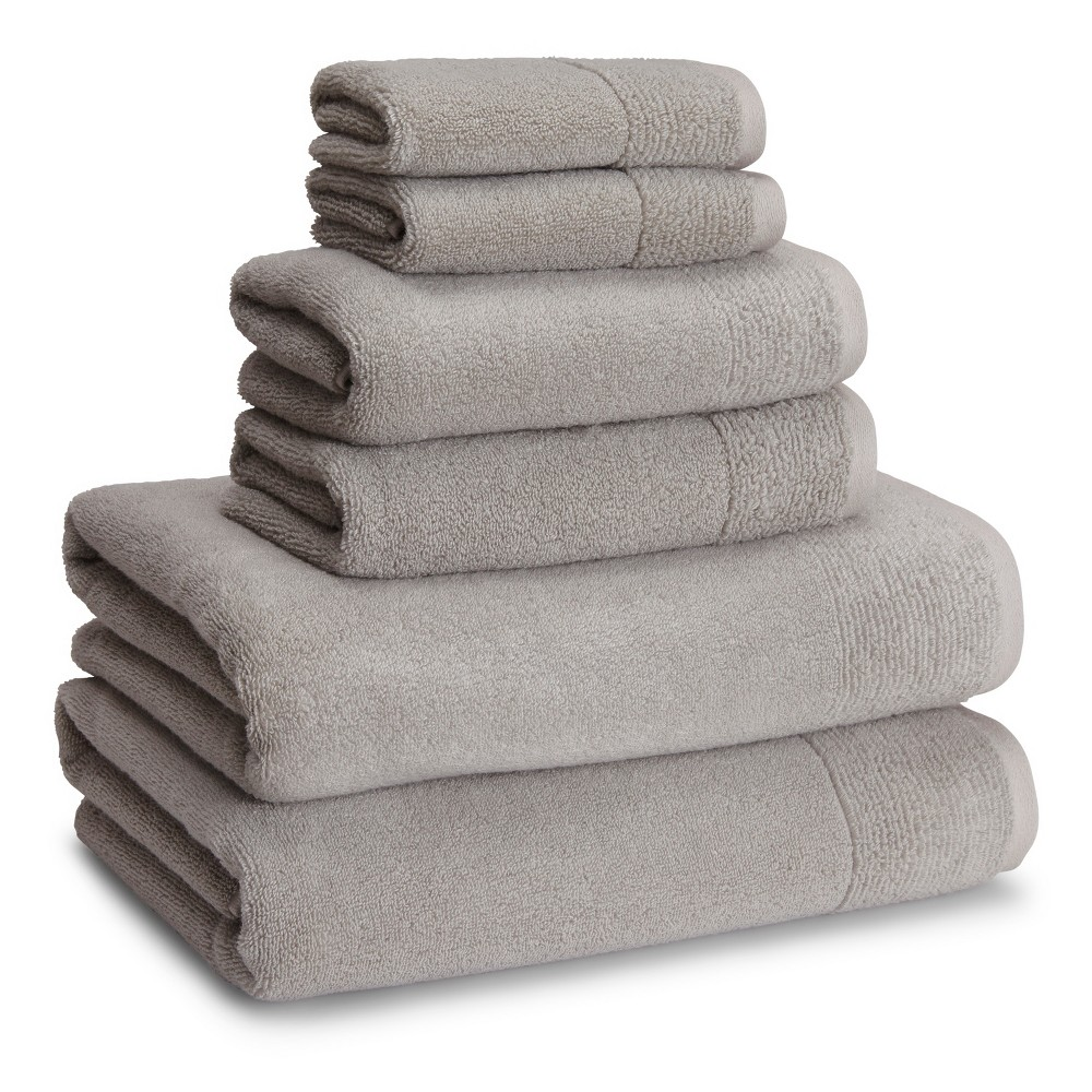 Image of 6pc Osaka Towel Set Dolphin Gray - Cassadecor