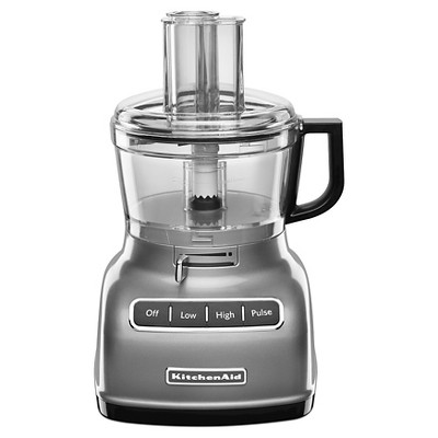 KitchenAid 7 Cup Food Processor with ExactSlice System Contour Silver - KFP0722CU