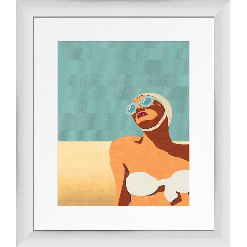 13 34 X 15 34 Beachscape Framed Wall Art White Ptm Images