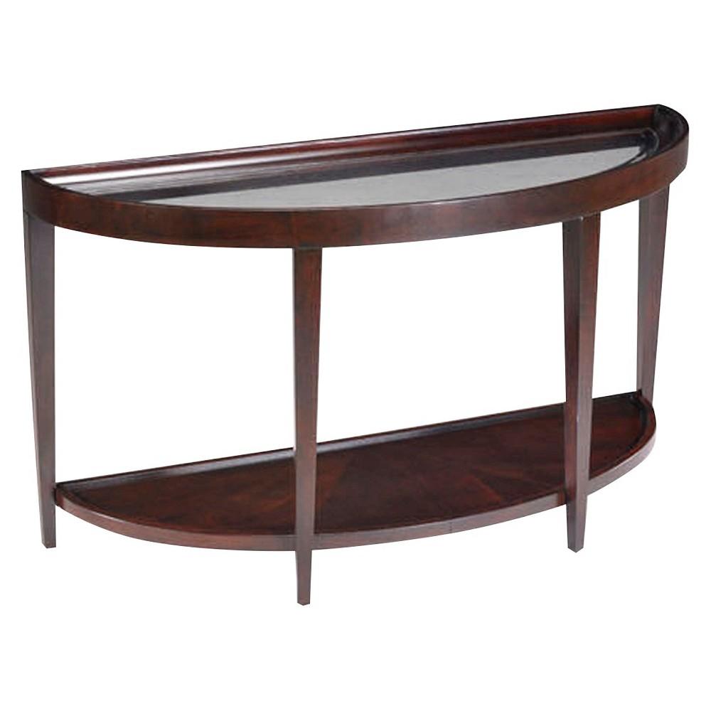 Carson Wood Demilune Sofa Desk Table Sienna - Magnussen Home