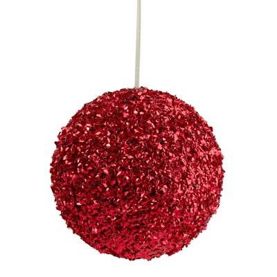 "Northlight 6"" Red Glitter Christmas Ball Ornament"