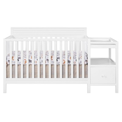 Oxford Baby Harper 4-in-1 Convertible Crib and Changer Combo - Snow White