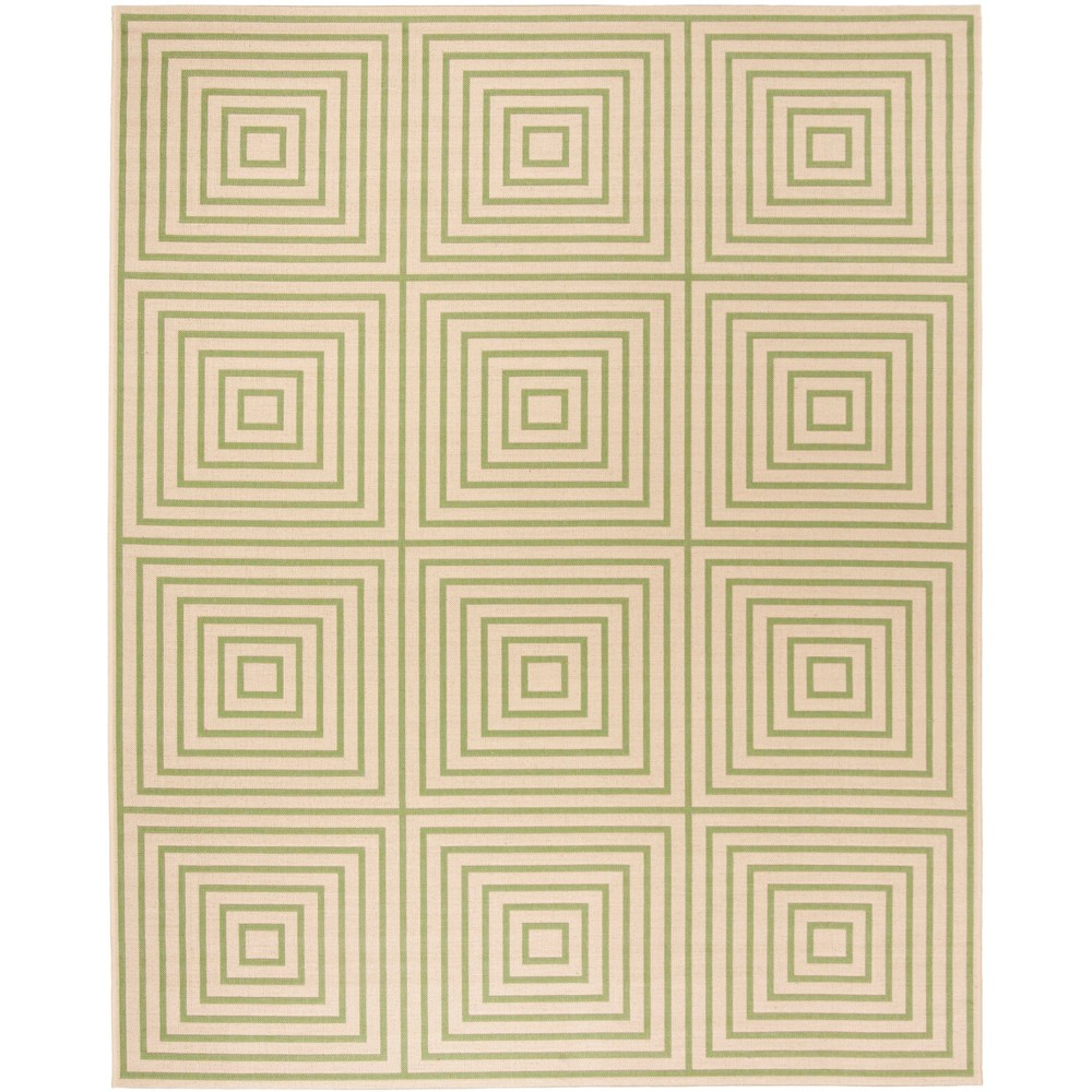 9X12 Geometric Loomed Area Rug Cream/Olive - Safavieh Price