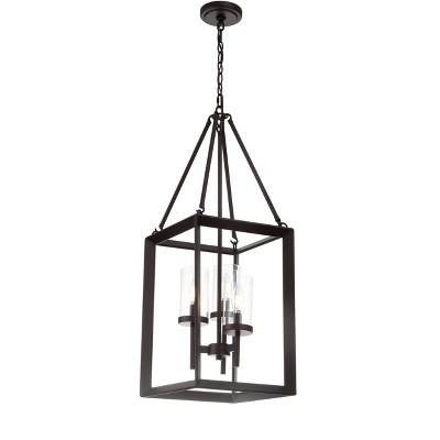 "12"" Metal/Glass Anna Pendant Ceiling Light (Includes Energy Efficient Light Bulb) Bronze - JONATHAN Y"